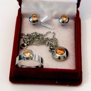 Bvlgari Set Necklace, earrings & ring New